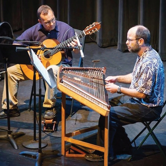 Brian Pearson on guitar and Cliff Cole on hammered dulcimer.
